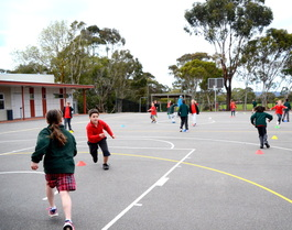 PE activities at Blackwood Primary School